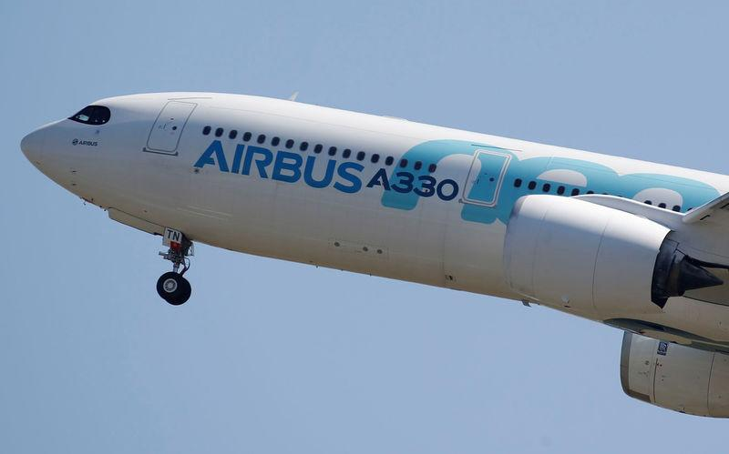 FILE PHOTO: An Airbus A330neo commercial passenger aircraft takes off in Colomiers near Toulouse