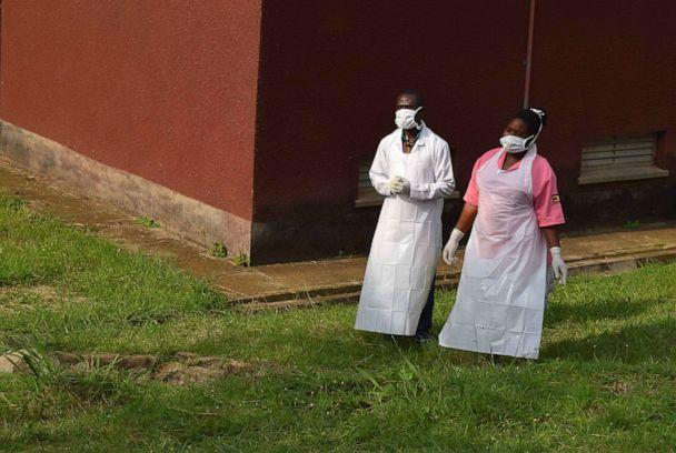 PHOTO:Ugandan medical staff are seen as they inspect the ebola preparedness facilities at the Bwera general hospital near the border with the Democratic Republic of Congo in Bwera, Uganda, June 12, 2019. (Samuel Mambo/Reuters, FILE)