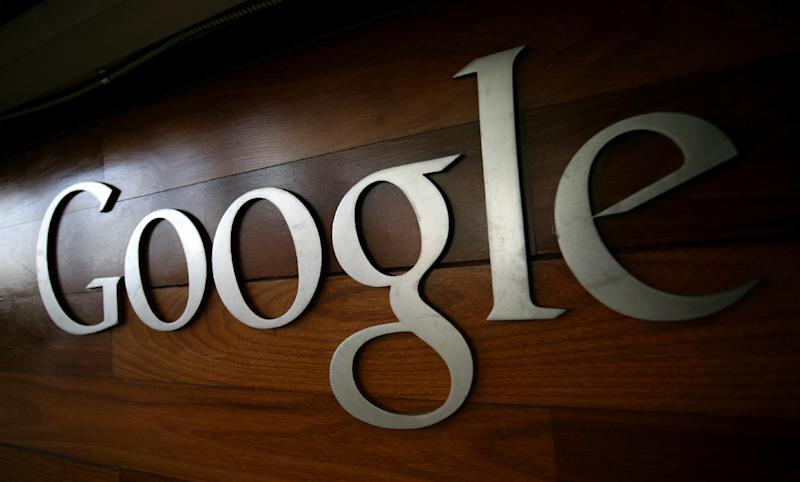 The Google logo is seen at the Google headquarters in Mountain View, California on September 02, 2011