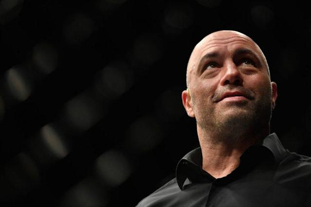 Joe Rogan isn't fond of the idea of Georges St-Pierre getting an immediate title shot against Michael Bisping. (Getty)