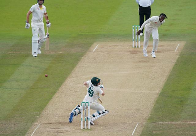 Smith was hit by Archer in a spell of ferocious bowling (Photo by Jed Leicester/Getty Images)