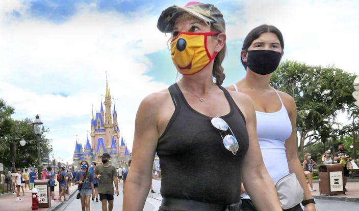 Masks are required at Walt Disney World.
