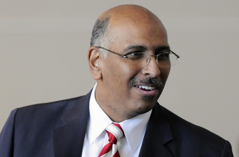 Former Republican National Committee chairman Michael Steele fiercely disputed the notion that he was elected to the top GOP post because of his race. (Jonathan Ernst / Reuters)