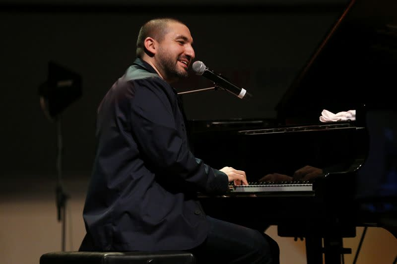 French-Lebanese trumpet player and composer Ibrahim Maalouf performs in Beirut