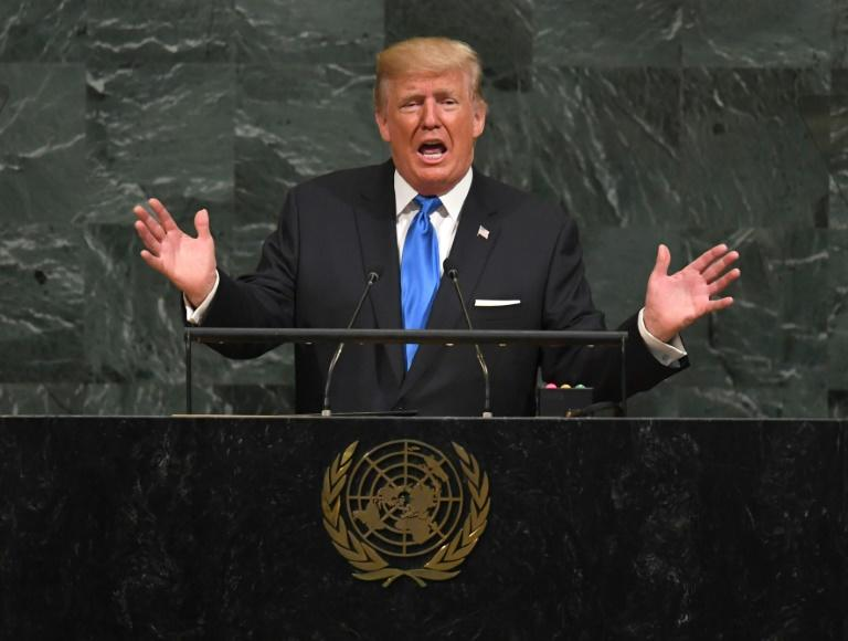 Kelly looked embarrassed during Trump's United Nations speech
