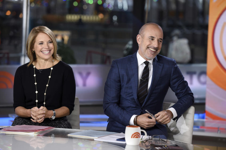 """Matt Lauer and Katie Couric hosted """"Today"""" for a decade. (Photo: Getty Images)"""