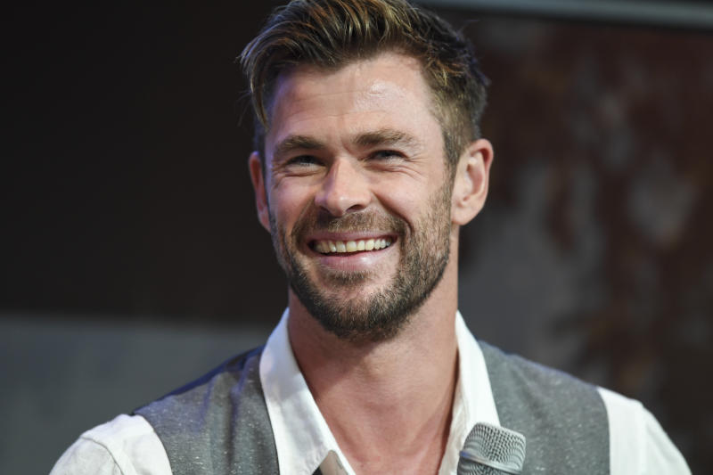"Actor Chris Hemsworth at the Sydney Opera House for the launch of the latest Tourism Australia campaign on October 30, 2019 in Sydney, Australia. ""Philausophy"" is the newest name for the campaign to drive international visits to Australia."