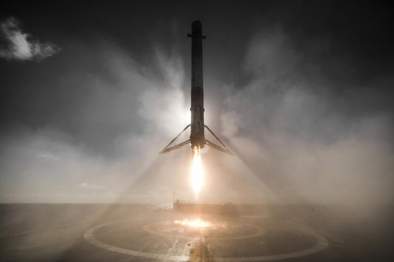 spacex used rocket launch landing c ba bf b k