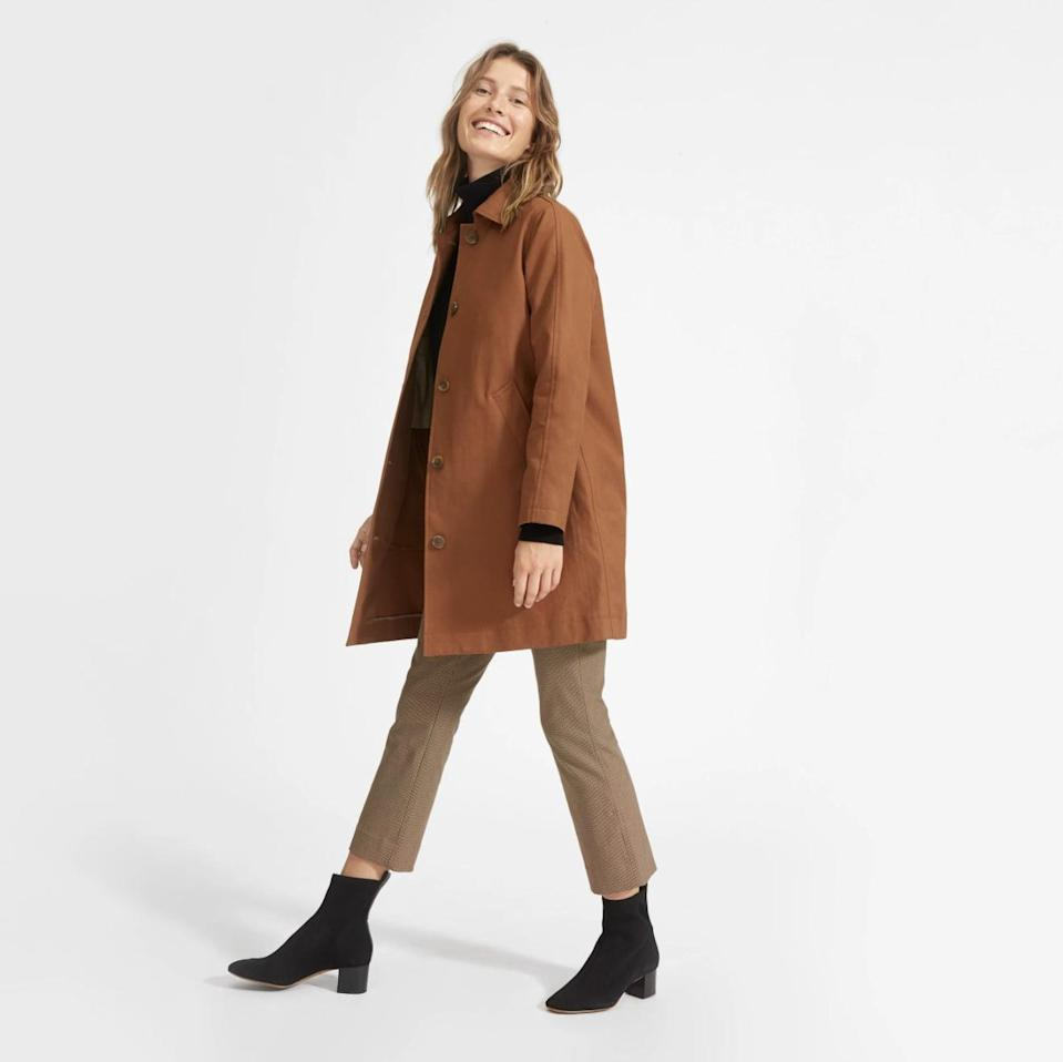 <p>This <span>Everlane Mac Coat</span> ($130) is a timeless and versatile pick you'll have no problem wearing with the clothes you currently have.</p>