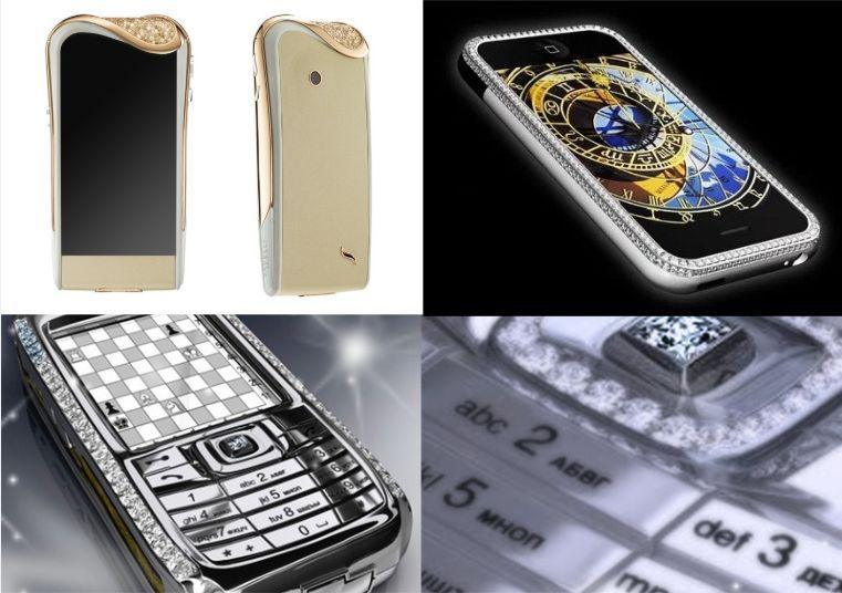 The most expensive smartphones in the world. Source: Luxury Volt, TechnoBezz, March Allen