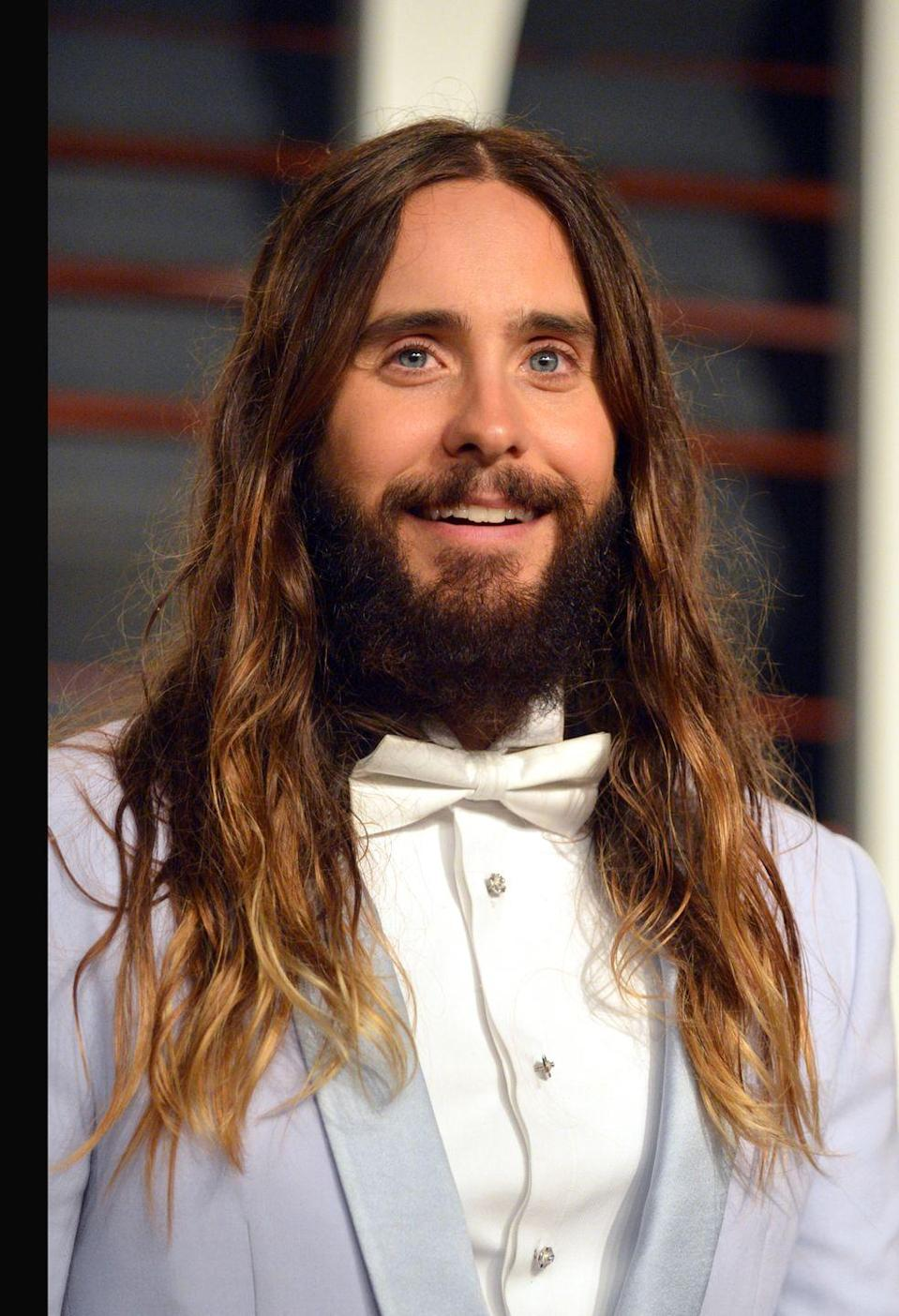 <p>Jared Leto doesn't really have a go-to hairstyle, as the actor changes it up more than most people change their toothbrush. But back in 2015, Leto stuck with long ombre hair for a solid amount of time. </p>