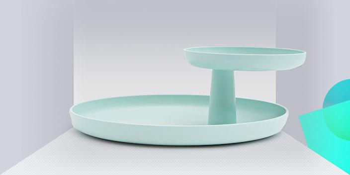"""<div class=""""caption""""> Up your tray game with this undeniably chic rotating, two-tier version. Use it as a catchall in your entryway or as a statement-making serving dish. Think Lazy Susan, but so much better. <br> <a href=""""https://www.vitra.com/en-us/living/product/details/rotary-tray"""" rel=""""nofollow noopener"""" target=""""_blank"""" data-ylk=""""slk:SHOP NOW"""" class=""""link rapid-noclick-resp"""">SHOP NOW</a>: Rotary Tray by Jasper Morrison, $80, vitra.com<br> </div> <cite class=""""credit"""">Photo courtesy of Vitra</cite>"""