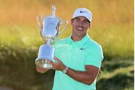 """<p>If dad can't be on the golf course, he might as well watch it. Lucky for him the U.S. Open often falls on Father's Day. In 2017, 28-year-old <a href=""""https://www.golfdigest.com/story/us-open-2018-brooks-koepka-wins-us-open-repeats-as-champion-after-shooting-closing-68"""" rel=""""nofollow noopener"""" target=""""_blank"""" data-ylk=""""slk:Koepka won the trophy"""" class=""""link rapid-noclick-resp"""">Koepka won the trophy</a>.</p>"""