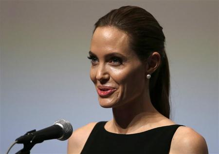 Angelina Jolie gives a speech on Preventing Sexual Violence in Conflict Initiative in Tokyo