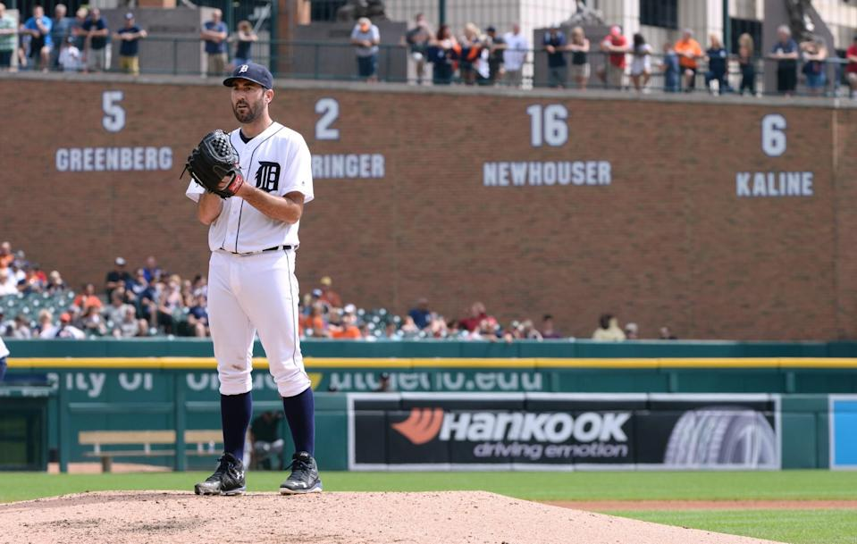 Tigers ace Justin Verlander has struggled against the Indians. (Getty Images)