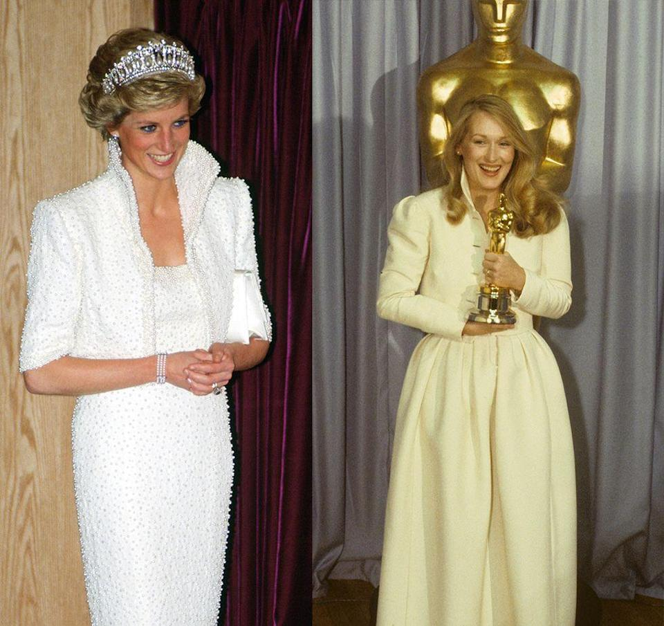 <p>The most underrated trend of the '80s was cropped and collared jackets. We first saw it on Meryl Streep's Oscar dress in 1980, and later Princess Diana wore a stunning Catherine Walker pearl encrusted jacket and evening gown to a state dinner in Hong Kong in 1989. </p>