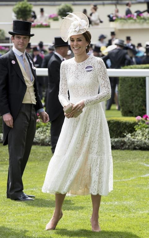The Duchess of Cambridge in Dolce & Gabanna at Royal Ascot in 2016 - Credit: Rex