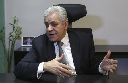 Leftist presidential candidate Hamdeen Sabahi talks during an interview with Reuters in Cairo