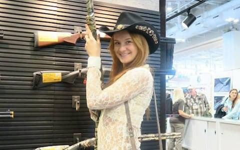 Maria Butina in a picture from her Facebook page