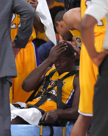 Randle was lost for last season after breaking his right leg in the first game. (AP)
