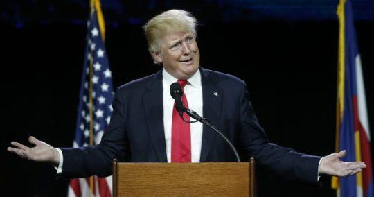 Republican presidential candidate Donald Trump speaks during the opening session of the Western Conservative Summit, Friday, July 1, 2016, in Denver. (Photo: David Zalubowski/AP)