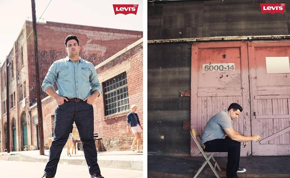 Olympian Brett Morse is the newest face of Levi's Big & Tall Men's collection. (Photo: Courtesy of Levi's)