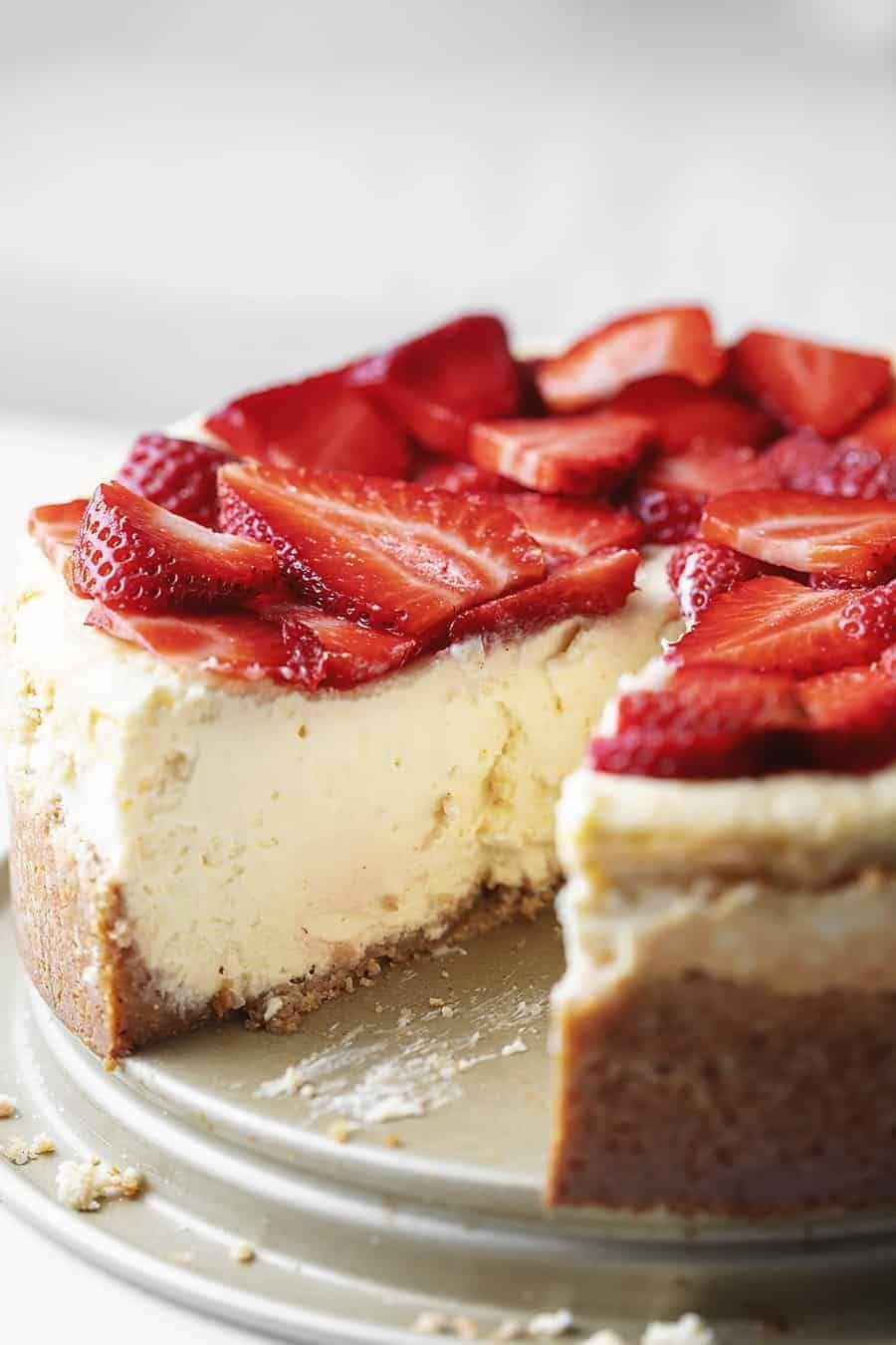 """<p>This recipe's a bit on the decadent side, but nothing tastes better than a slice of classic cheesecake. Just watch your portions!</p><p><a class=""""link rapid-noclick-resp"""" href=""""https://jenniferbanz.com/the-best-keto-cheesecake"""" rel=""""nofollow noopener"""" target=""""_blank"""" data-ylk=""""slk:Get the recipe"""">Get the recipe</a></p><p><em>Per serving: 600 calories, 7 g carbohydrates, 14 g fat, 54 g fat, 2 g fiber</em></p>"""