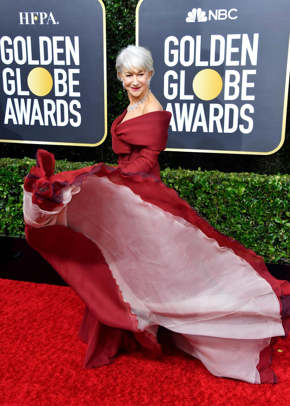 Bless Helen Mirren for bringing the💃emoji to life.