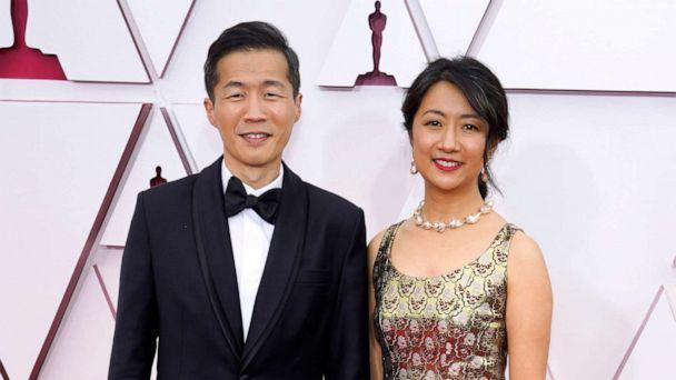 PHOTO: Lee Isaac Chung and Valerie Chung attend the 93rd Annual Academy Awards, April 25, 2021, in Los Angeles. (Pool/Getty Images)