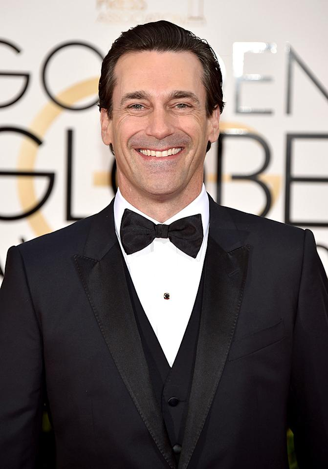 "<p>Jon Hamm — best known for playing anti-hero Don Draper on <i>Mad Men —</i> is quite the opposite in real life, having once helped his 90-year-old L.A. neighbor at a critical time. ""One weekend I heard this ruckus next door and I looked over this wall, and he had fallen off of the ladder and threw his head onto the driveway and was bleeding all the way down the driveway,"" he told <i><a href=""http://www.hollywoodreporter.com/news/keeping-up-joneses-premiere-jon-936659"">The Hollywood Reporter</a> </i>in October 2016. ""I just [jumped] over the thing and I'm thinking, 'Cub Scouts, what do you do?' I got him untangled from the ladder and all of the tree branches off of him, and I undid his collar and I put some stuff on his head to put pressure on it,"" he said. Thanks to Hamm, an ambulance eventually came and the neighbor was just fine.<i> (Photo: John Shearer/Getty Images)</i></p>"