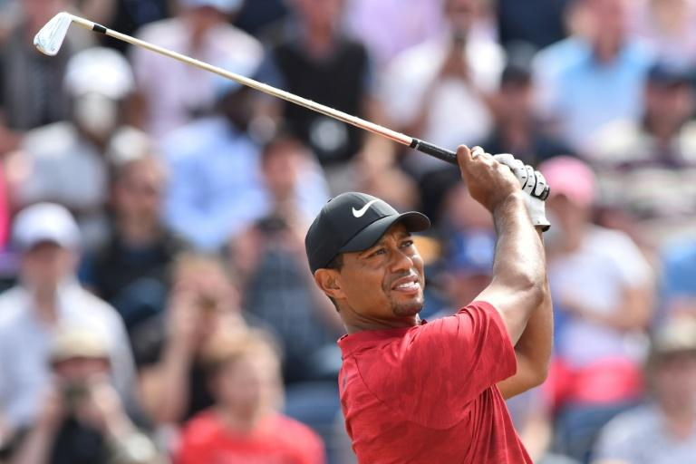 Woods held the lead on the back nine of the final round of the British Open, only to fade out of contention