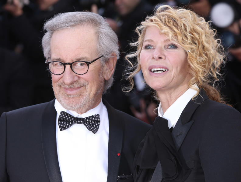 Director Steven Spielberg and Kate Capshaw arrive on the red carpet for the screening of Venus