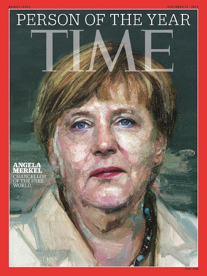 Angela Merkel was both hailed and derided for her bold decision in 2015 to open Germany's borders to more than a million asylum seekers, with TIME Magazine crowning her its person of the year (AFP Photo/HO)