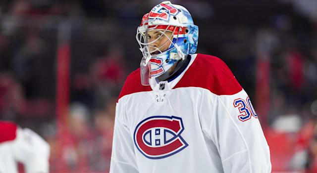 Cayden Primeau has been recalled to the Montreal Canadiens. (Getty Images)