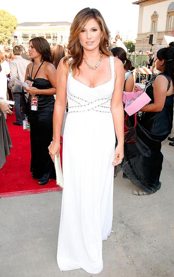 "Daisy Fuentes wowed in a white, floor-length gown. Can you believe she's 41? Kevin Winter/<a href=""http://www.gettyimages.com/"" target=""new"">GettyImages.com</a> - August 17, 2008"