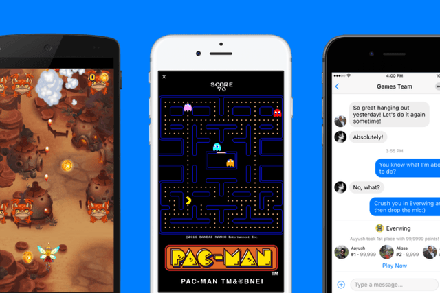 facebook messenger instant games launch