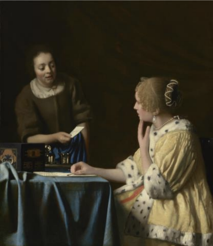 """Works on display will include Johannes Vemeer's """"Mistress and Maid"""" (1667). (The Frick Collection)"""