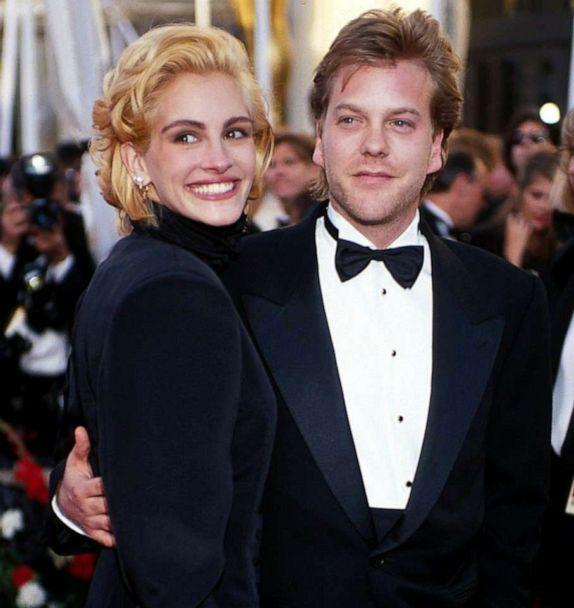 PHOTO: Julia Roberts and Kiefer Sutherland walk the red carpet for the 63rd Annual Academy Awards at the Shrine Auditorium in Los Angeles, March 25, 1991. (WireImage/Getty Images, FILE)