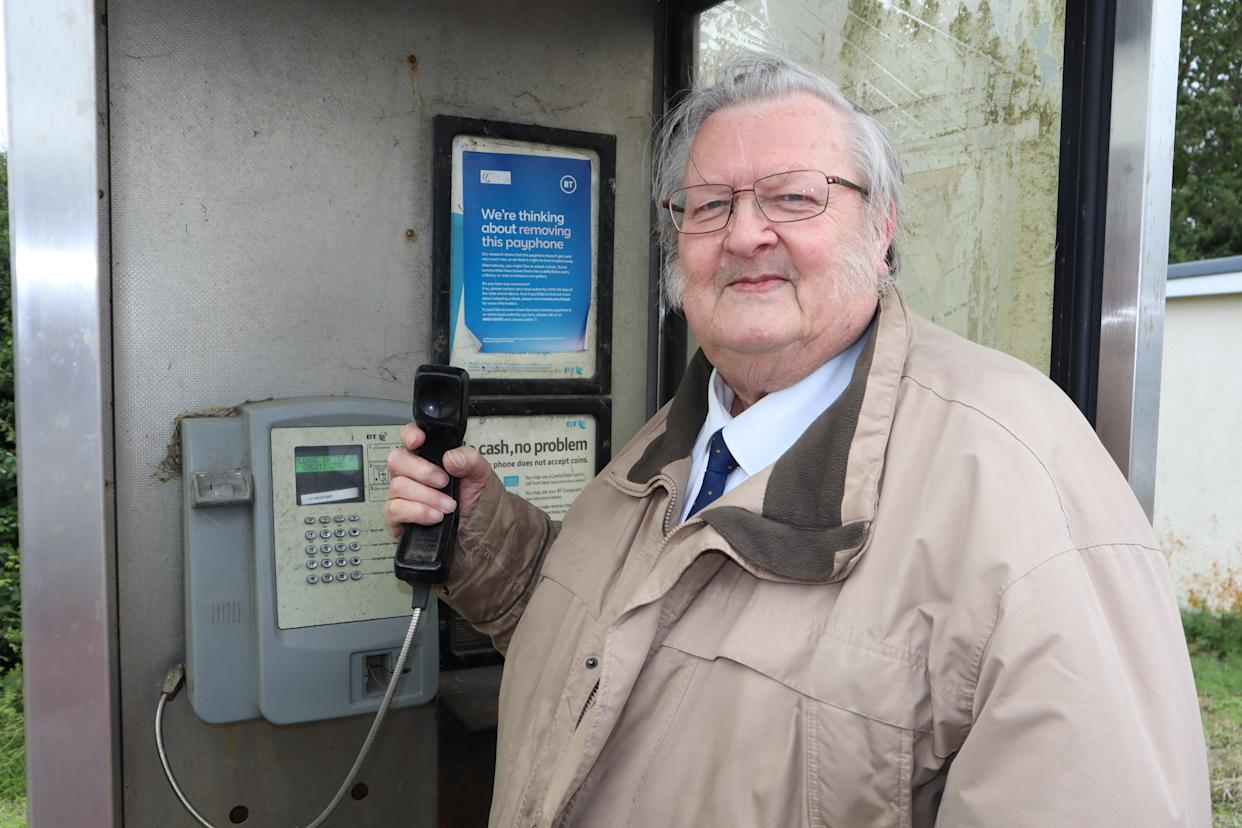 Ken Ingleton, chairman of Minster parish council, wants the phone box near the White House restaurant in Minster to be retained.