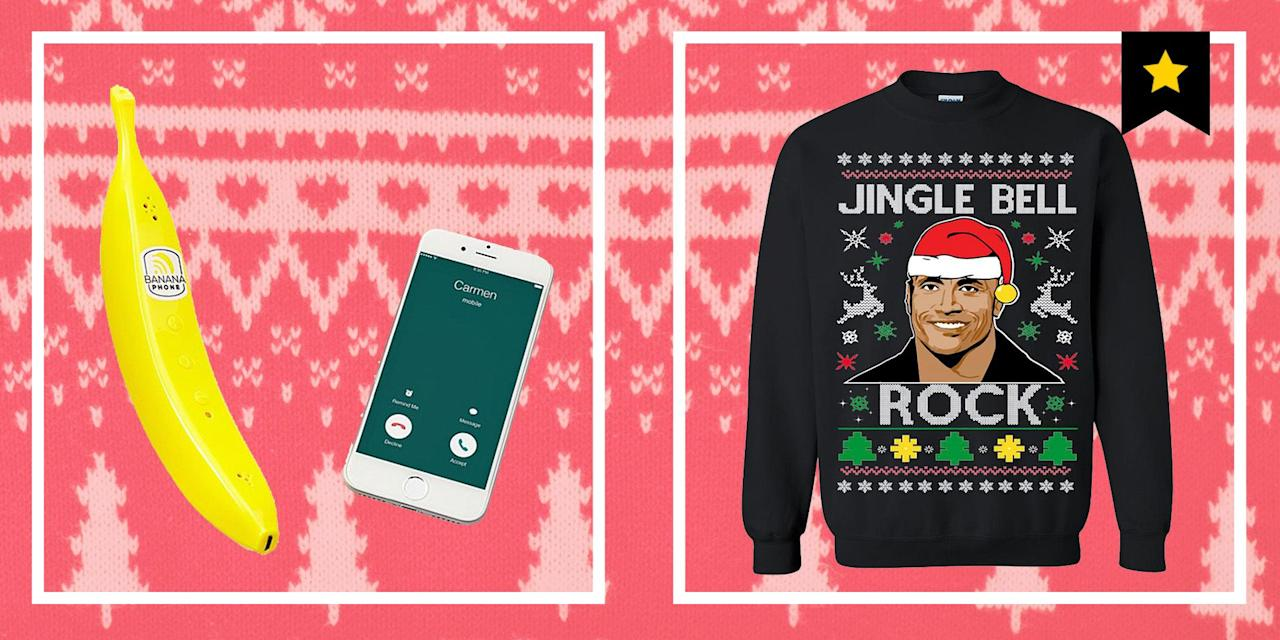 """<p>Why be <a href=""""https://www.esquire.com/lifestyle/g1943/gifts-for-men/"""" target=""""_blank"""">thoughtful</a> when you could be a wise-cracking asshole instead? This holiday season, give someone you know the gift of laughter, most likely at their own expense. These are 30 funny Christmas gift ideas to peruse. They'll sure as hell be more memorable than a lame candle or a dumb pen, whether you need a gag gift for a family member, an <a href=""""https://www.esquire.com/lifestyle/g1349/cheap-gifts-under-25/"""" target=""""_blank"""">office Secret Santa exchange</a>, or your friend group's <a href=""""https://www.esquire.com/lifestyle/g12222340/white-elephant-gifts/"""" target=""""_blank"""">White Elephant</a>. </p>"""
