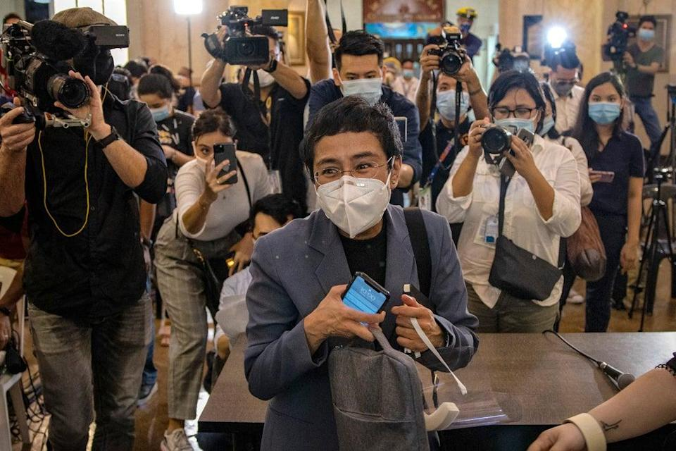 Maria Ressa, the editor and CEO of Rappler, has faced brutal misogynistic hate for standing up against the Duterte regime (Getty)