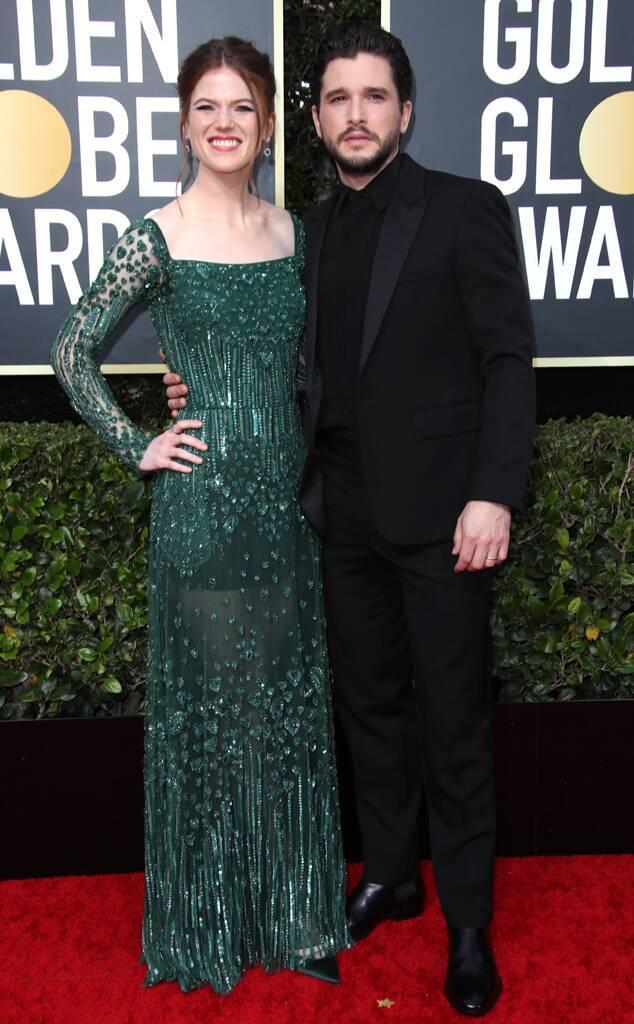 Rose Leslie, Kit Harington, 2020 Golden Globe Awards, Couples