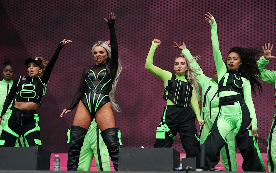 Little Mix perform during the second day of BBC Radio 1's Big Weekend at Stewart Park, Middlesbrough.