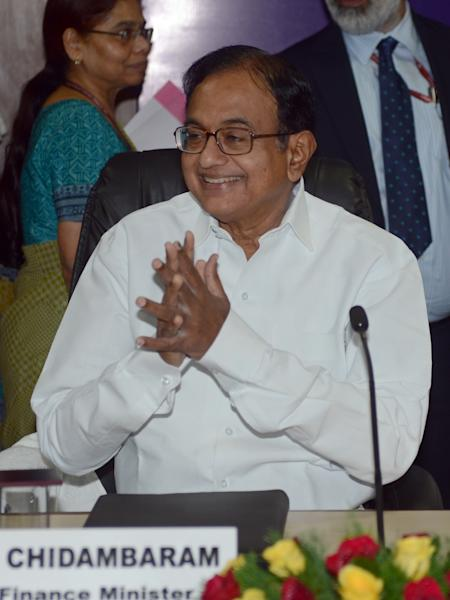 Former Indian Finance Minister P. Chidambaram pictured in New Delhi on May 13, 2014 (AFP Photo/Raveendran)