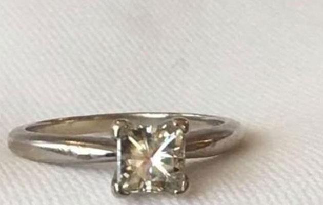 The lost ring wasn't covered by insurance because it was lost overseas. Photo: Supplied