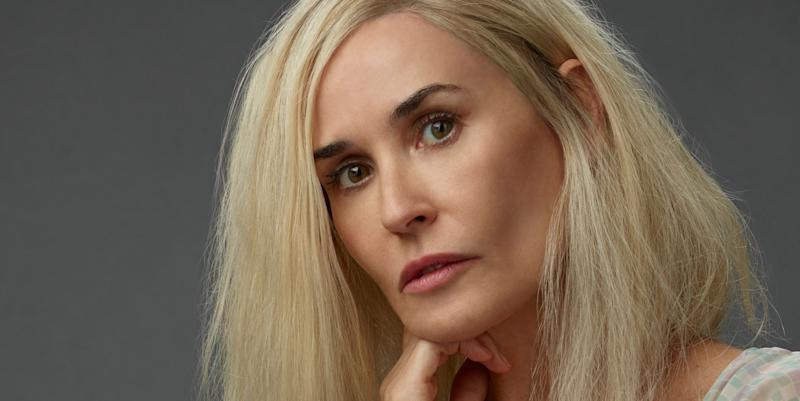 Demi Moore debuts new blond hair for 'Brave New World'