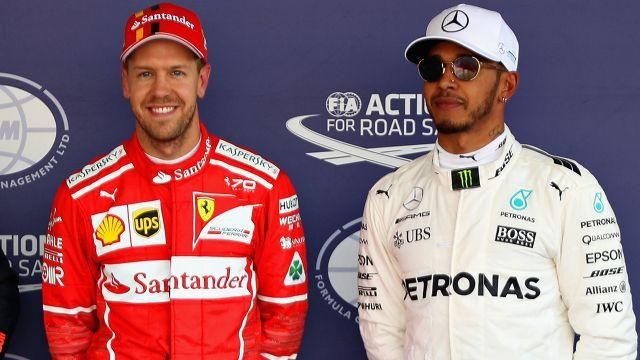 Vettel and Hamilton didn't often see eye to eye. Image: Getty