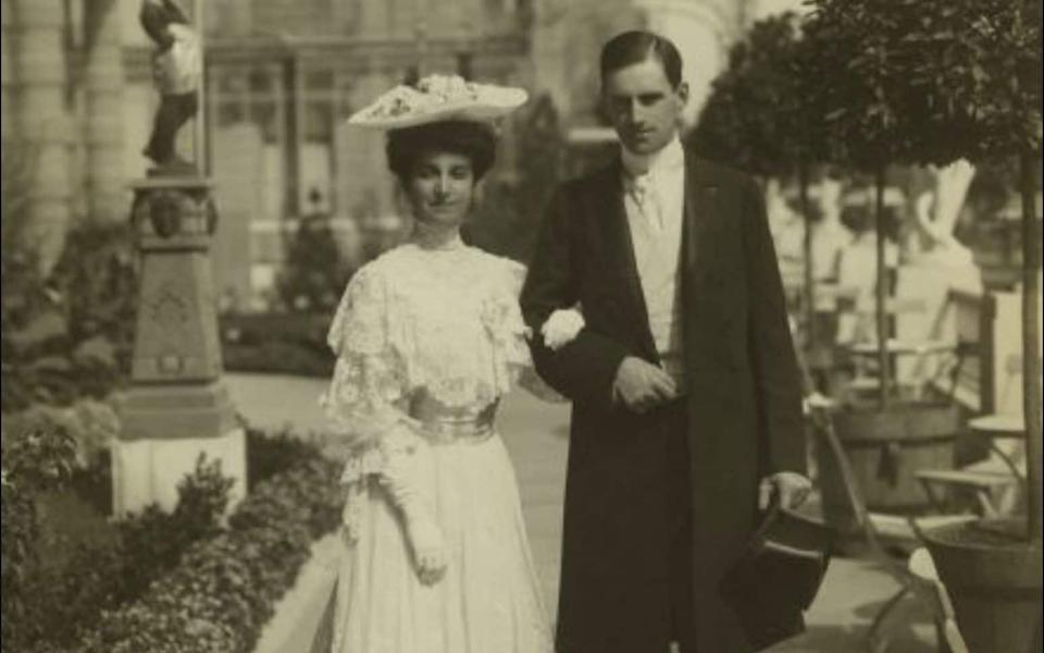 Stanley and Katharine McCormick, pictured at the Chateau de Prangins in Nyons, outside Geneva