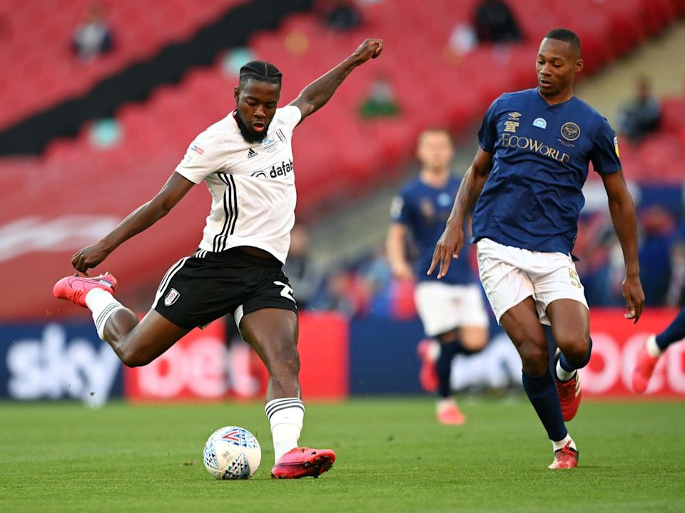 Josh Onomah takes a shot during the first half: Getty