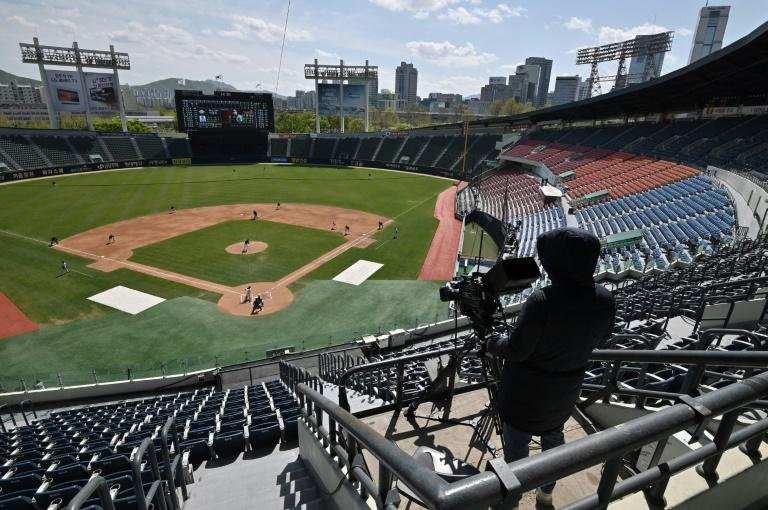 Some professional sports in South Korea -- including baseball -- started new seasons behind closed doors
